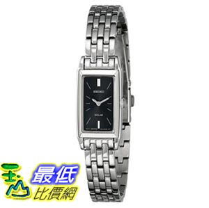 [103美國直購] Seiko Women's SUP043 Stainless Steel and Black Dial Baguette Solar Watch 女士手錶 $4388