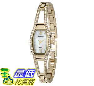 [103美國直購] Armitron NOW Women's 753530MPGP Swarovski Crystal Accented Gold-Tone Bangle Watch 女士手錶 $2447