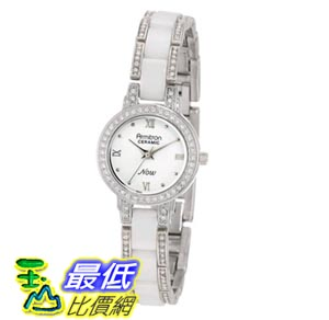 [103美國直購] Armitron NOW Women's 753919WTSV Swarovski Crystal Accented Silver-Tone and White Ceramic Watch 女士手錶 $1821