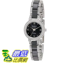 [103美國直購] Armitron NOW Women's 753919BKSV Swarovski Crystal Accented Silver-Tone and Black Ceramic Watch 女士手錶 $2000
