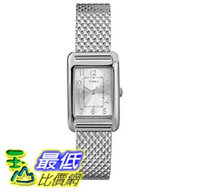 [103美國直購] Timex Women's T2P3039J Dress Mini Rectangle Silver-Tone Stainless Steel Bracelet Watch 女士手錶
