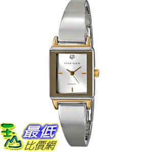 [103美國直購] Anne Klein Women's AK/1621SVTT Diamond Accented Dial Rectangular Two-Tone Bangle Watch 女士手錶 $3349