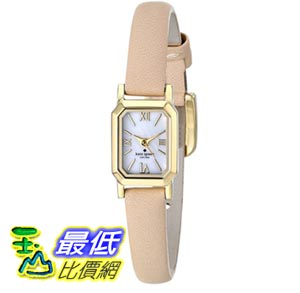 [103美國直購] kate spade new york Women's 1YRU0637 Tiny Hudson Watch with Beige Leather Band 女士手錶 $4924