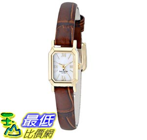 [103美國直購] kate spade new york Women's 1YRU0633 Tiny Hudson Watch with Brown Leather Band 女士手錶 $4924