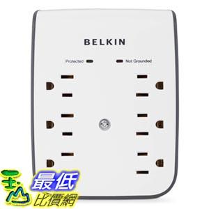 [103美國直購] Belkin 插座壁掛式電涌保護器 6-Outlet Wall Mount Surge Protector with Dual USB Ports (1 AMP / 5 Watt) $1296