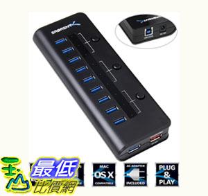 [104美國直購] 電源hub 適配器 Sabrent High Speed 10 Port USB 3.0 HUB + 5V 2.1A Smart Charging Port (HB-RUS1)