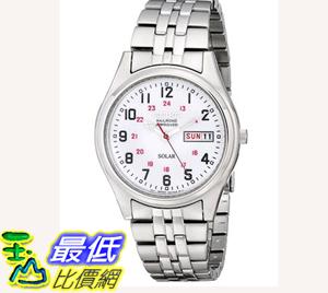 [104美國直購] 男士手錶 Seiko Men's SNE045 Solar White Dial Watch $3885