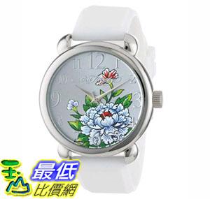 [104美國直購] 女士手錶 Ed Hardy Women's FO-WH Fountain White Quartz Analog Watch $1249