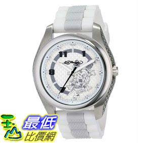 [104美國直購] 男士手錶 Ed Hardy Men's RV-WH Raven White Quartz Analog Watch $1249