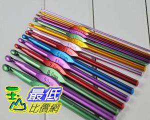 [玉山最低比價網] 彩色氧化鋁鉤針 14支裝 直徑0.2毫米到1毫米 (QC25) $260
