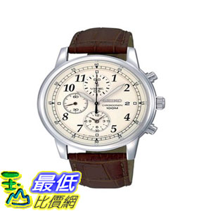 [103美國直購] 手錶 Seiko Mens SNDC31 Classic Brown Leather Beige $4693