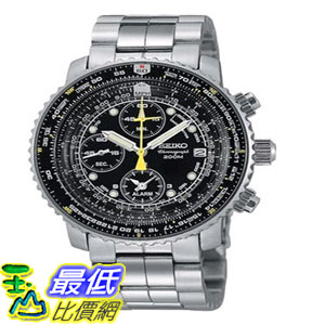 [103美國直購] 手錶 Seiko Mens SNA411 Flight Alarm Chronograph Watch $8809