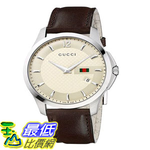 [103美國直購] 男士手錶 Gucci Mens YA126303 G-Timeless Ivory Diamond $37789