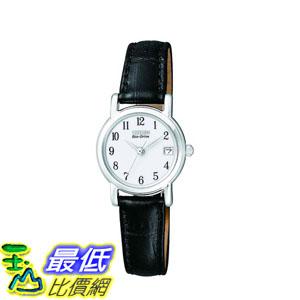[2015 限量促銷款 美國直購] 黑色皮革手錶 Citizen Women's EW1270-06A Watch $4924