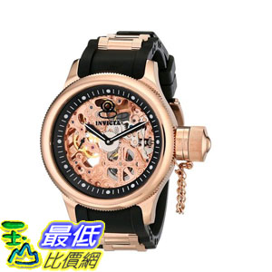 [103美國直購] 手錶 Invicta Mens 1090 Russian Diver Mechanical Skeleton Dial Black