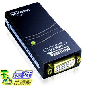 [104美國直購] 可插拔的USB Plugable UGA-165 USB 2.0 to VGA/DVI/HDMI Graphics Adapter for Windows $1877