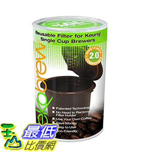 [104美國直購] 咖啡杯 B00K8FR2P8 Ekobrew Refillable K-cup for Keurig 2.0 and 1.0 Brewers 1cup $703
