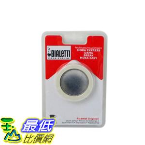 [104美國直購] 摩卡壺 耗材 Bialetti Replacement Gaskets 3膠圈+不鏽鋼濾網 六杯