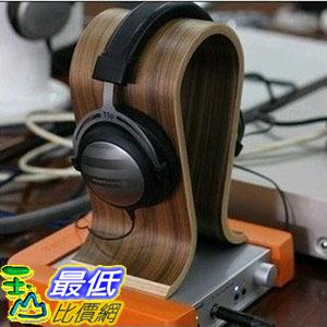 [104大陸直寄]  頭戴式耳機 胡桃木U型 木質耳機架 (_G009)