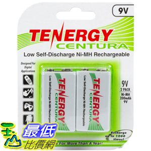 [104美國直購] 鎳氫 充電電池 9V 200mAh Low Self-Discharge NiMH Rechargeable Batteries