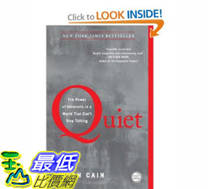 [美國直購]2012 美國秋季暢銷書排行榜Quiet: The Power of Introverts in a World That Can't Stop Talking$652
