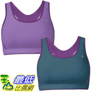 [104 美國直購] Champion Ladies' Reversible Sports Bra 2-Pack-Purple & Gray $1039