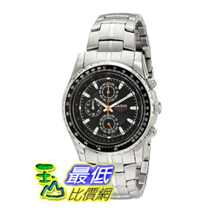 [104美國直購] Casio Men's MTP4500D-1AV 男士手錶 Slide Rule Bezel Analog Chronograph Aviator Watch