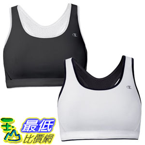 [104 美國直購] Champion Ladies' Reversible Sports Bra 2-Pack-Black & White $1039