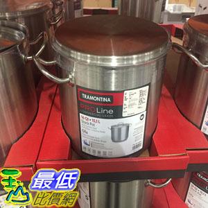 [104限時限量促銷] COSCO TRAMONTINA STOCK POT 16QT 不?鋼雙耳含蓋湯鍋 容量:15.1公升 _C880048 $1703