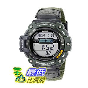[104美國直購] Casio Men's SGW300HB-3AVCF 男士手錶 Multi-Function Sport Watch with Green Nylon Band