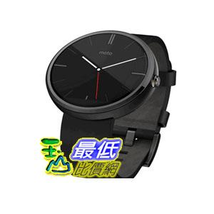 [104美國直購] 美國代購 Motorola Moto 360 - Black Leather Smart Watch $8909