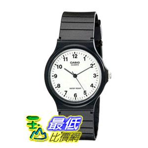 [104美國直購] Casio 手錶 Unisex MQ24-7B Analog Black Resin Strap Casual Watch