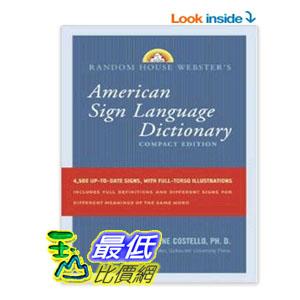[104美國直購] Random House Webster's Compact American Sign Language Dictionary $815