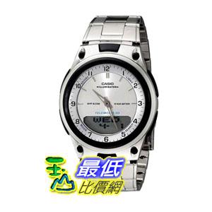 [104美國直購] Casio 男士手錶 Men's AW80D-7A Sports Chronograph Alarm 10-Year Battery Databank Watch