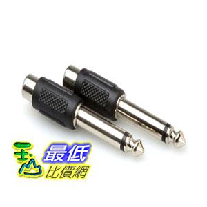 【104美國直購】Hosa Cable GPR101 RCA To 1/4 Inch TS Adaptor - 2 Pack 電纜 轉接頭 $199