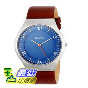 [104美國直購] Skagen 男士手錶 SKW6112 Grenen Quartz 3 Hand Stainless Steel Dark Brown $3265