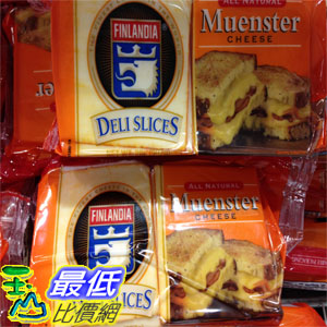 (需低溫宅配) COSCO FINLANDIA SLICED MUENSTER CHEESE 莫恩斯特乾酪907G _C331346