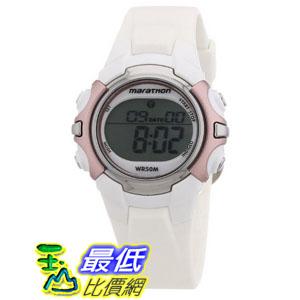 [103 美國直購 ShopUSA] Timex Marathon Chronograph 手錶 White Rubber Ladies Watch T5K647