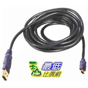 [美國直購] Belkin F3U138-10-GLD  USB A 5pin Mini B Device 24/28 Awg Dstp Gold - 10ft 延長線 $719