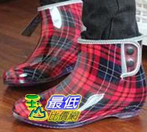 [玉山百貨網]  外貿時尚雨鞋 女士雨靴 低筒 水鞋 膠鞋日本套鞋 短筒雨鞋保暖鞋 $398
