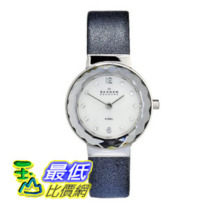[美國直購 ShopUSA] Skagen 手錶 Mother of Pearl Dial Blue Leather Ladies Watch 456SSLNN $2240