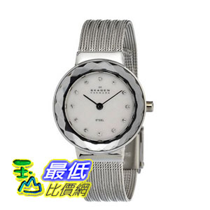 [美國直購 ShopUSA] Skagen 手錶 Mother of Pearl Dial Stainless Steel Mesh Bracelet Ladies Watch 456SSS2 $2449
