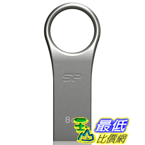 [美國直購 ShopUSA] Silicon Power 閃存驅動器 8GB Firma ZN F80 USB 2.0 Flash Drive, Gray (SP008GBUF2F80V1S)