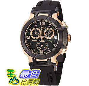 [103 美國直購 ShopUSA] Tissot 手錶 Men's T048.417.27.057.06 T-Sport Rose-Gold PVD Black Rubber Strap Watch $22246