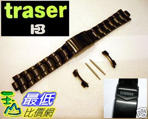 [103 美國直購] TRASER Luminox F-117 PVD BLACK WATCH BAND 3400 22mm 錶帶 $2698