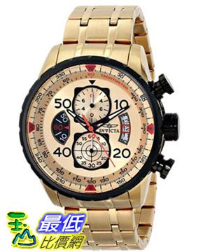 """[103 美國直購 ShopUSA] Invicta 手錶 Men's 17205 """"AVIATOR"""" 18k Gold Ion-Plated Watch"""