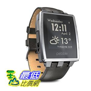 [104美國直購] Pebble Steel B00KVHEL8E 智能手錶 for iPhone and Android Devices (Brushed Stainless) $10378