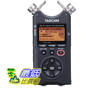 [103 美國直購] TASCAM DR-40 4-Track 數字錄音機 Portable Digital Recorder $8999