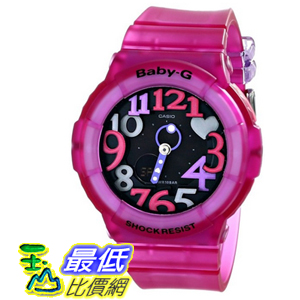[104美國直購] Casio 粉色 女士手錶 BGA-131-4B4CR Baby G Analog-Digital Display Quartz