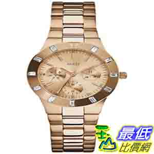 [美國直購 ShopUSA] Guess 手錶 Women's U13013L1 Gold Stainless-Steel Quartz Watch with Rose-Gold Dial $3836